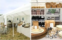 Rent a tent for an airy space.  Create some buzz at a flea market or craft show by hosting a one/two day only pop up shop.