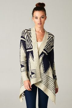 Noah Sweater inSouthwestern Navy and Cream Design