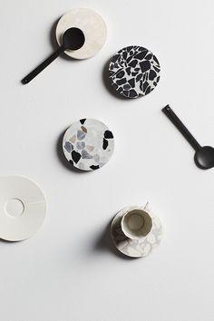 Currently coveting: Sly's terrazzo & suede homewares - The Interiors Addict Terrazzo, Kitchenware, Tableware, Scandinavian Kitchen, Unique Colors, Decoration, Design Trends, Home Accessories, Designer