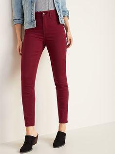 313e248371 High-Rise Secret-Slim Pockets Pop-Color Rockstar Super Skinny Jeans For  Women. Old Navy ...