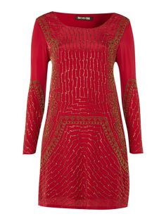 Biba Vintage sequin tunic dress Red - House of Fraser