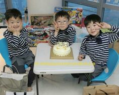Thank God for these babies ☺️ Cute Kids, Cute Babies, Song Il Gook, Triplet Babies, I Miss You Guys, Man Se, Song Daehan, Song Triplets, Cutest Thing Ever