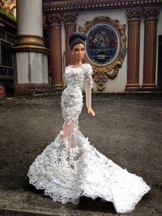 Vestidos de novia que vas a querer arrebatarle a Barbie #eslamoda