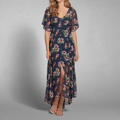 Womens Floral Print Maxi Dress | Womens New Arrivals | Abercrombie.com