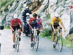 Jalabert, Chava Jiménez y Zulle, en los Lagos de Covadonga #Ciclismo #Cycling #CristóbalCabezas
