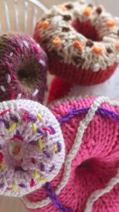 How To Knit Donuts Tutorial