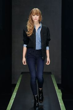 G-Star Raw's Suzu Sweat Vest 7/8 sleeve & blue denim Arlee Cropped Boyfriend Shirt #AW15 #comingsoon