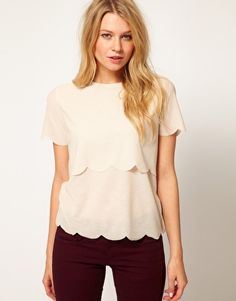 ASOS Top with Double Scallop