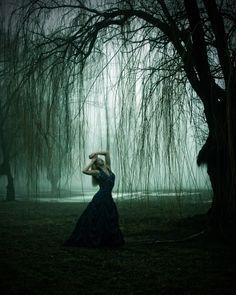 """Fog Through the Willows""— Photographer/Model: Candi S. Kalinsky – Kalinsky Photography"