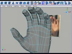 Fast and efficient 3D modeling tutorial for the human hand