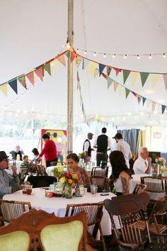 Bunting tent Circus theme big top wedding. Shot in Minneapolis by Gigi Hickman.  www.gigihickman.com