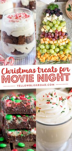 Plan a Christmas movie night with these easy treat and snack ideas, free printables, plus a list of the 45 Best Christmas Movies!