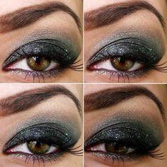 Aloebeautyblog: Fekete-zöld füstös szem step by step