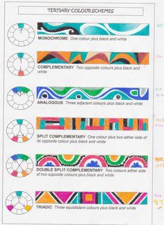 Just filled in a colour schemes chart tonight for my new Year 11's tomorrow. Those of you who are experienced artists probably know all abou...
