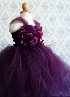 Flower girl dress Deep Purple tutu dress flower by FashionTouch, $70.00