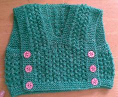 Hand Knitted Baby Vest Top