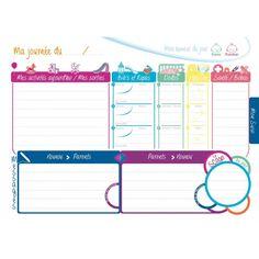 Le Journal de Bébé Nounou suit l'enfant au jour le jour, qu'il soit gardé par la nounou, les grands-parents ou la baby-sitter