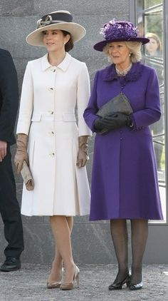 Princess Mary of Denmark and Camilla, the Duchess of Cornwall