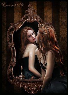 Queen and magic mirror... by moonchild-ljilja.deviantart.com on @deviantART