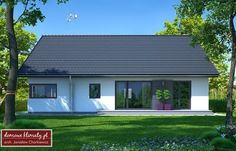 Drawing of a modern residential building with a garage and attic Source by Modern Barn House, Building Drawing, Autocad, House Plans, Sweet Home, Home And Garden, Exterior, House Design, Outdoor Decor