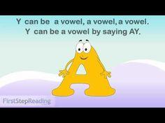 Beginning Reader Grammar Phonics Lesson, Y as a Vowel Sound, Irregular Y
