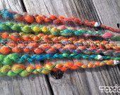 10 Tutti Frutti Unicorn Dreads or a custom order you pick the colors synthetic dreads dreadlocks