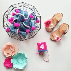 I hope K has the best celebration! Handmade Shop, Handmade Art, Handmade Items, Felt Garland, Trendy Kids, Felt Ball, Lets Celebrate, Party Hats, 4th Birthday