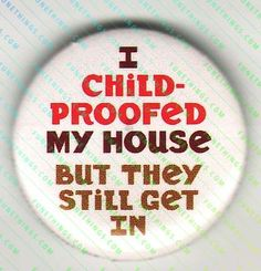 lol i child-proofed my house but they still get in