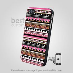 aztec tribal pattern pink for iPhone 4/4S/5 iPod 4/5 Galaxy S2/S3/S4 | BestCover - Accessories on ArtFire