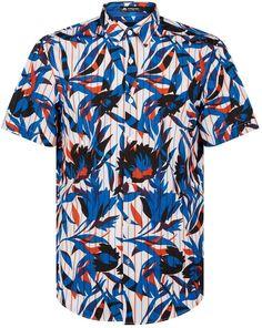 BOSS Floral Shirt Short Sleeve Button Up, Button Down Shirt, Casual Shirts For Men, Men Casual, Hugo Boss Shirts, Boss Man, Embroidered Sweatshirts, Stripe Print, Summer Wardrobe