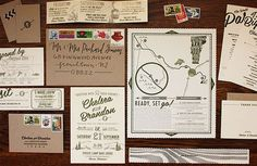 Oh So Beautiful Paper: Chelsea + Brandon's Rustic Vermont Wedding Invitations