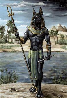 Анубис (Имиут) Если называть имена богов Древнего Египта, то про Анубса нельзя не упомянуть. У него есть еще имена: Упуаут (Упуат — бог-волк), Хентиаменти, Исдес. Сын Нефтиды и Осириса, отец Кебхут, брат бога Баты. Он был покровителем умерших, кладбищ и некрополей, хранителем ядов и лекарств, одним из судей царства мертвых. Анубис-Саб являлся судьей богов.