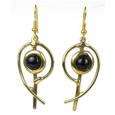 Brass and Onyx Earrings  from The Gifting Store #eco #fairtrade $39