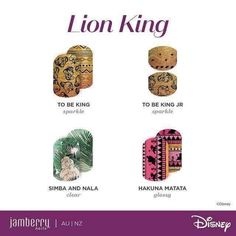 Disney has brought more nail wraps to Jamberry! Four new favorites have hit the shelves and are available for order through the Boutique! Jamberry Disney, Disney Nails, Disney Makeup, Disney Designs, Nail Designs, Swag Nails, Fun Nails, Disney Inspired Nails, Foot Pedicure
