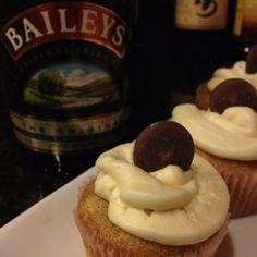 Baileys cupcake with Baileys frosting!