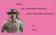 Stranger Things valentines - Chief Jim Hopper
