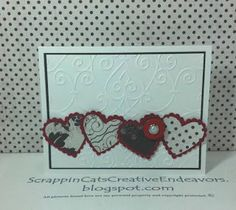 Welcome to Scrappin' Cat's Creative Endeavors: Scallop heart Valentine's card