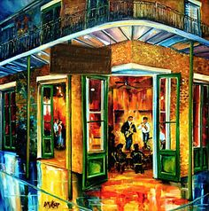 Bourbon Street Painting - Jazz At The Maison Bourbon by Diane Millsap