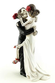 Day of the Dead Dia De Los Muertos Sexy Skulls Wedding Gothic Cake Topper Forever in Love Perfect for gothic weddings or Halloween themed Wedding celebration. Celebrate your special exactly how you im Skull Wedding Cakes, Gothic Wedding Cake, Gothic Cake, Punk Wedding, Wedding Cake Toppers, Dream Wedding, Wedding Day, Skull Cakes, Sugar Skull Wedding