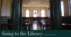 I bemoan the fact that today's student may never experience the visceral rewards that going to the library has brought for centuries: that marvelous physical process of preparing, anticipating, physically laboring, and painstaking fulfillment.