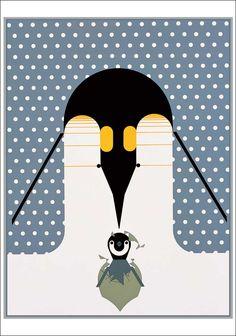 Penguins // Charley Harper