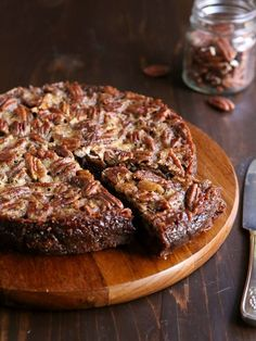 Pecan Pie Brownies...fudgy brownies and rich pecan pie filling bake together into one incredibly decadent dessert!!