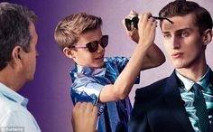 10-year-old Romeo Beckham in a Burberry advert in late 2012.