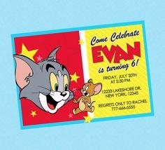 Tom & Jerry Birthday Invite