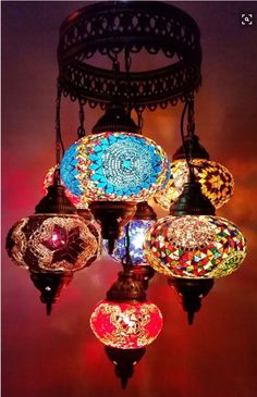 Turkish Pendant Mosaic Lamp 7 Globe Moroccan Style Chandeliers Hanging Light Night Tiffany Lamp Antique Lampshade Free Expedited Shipping - This is a handmade Turkish Moroccan light. -Mosaic manufacture in Anatolia dates back to 6000 years -