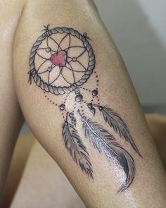 tattoo black and grey atrapasueños