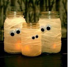 So simple but they look awesome, Halloween Mummy Jars!!! http://www.kids-around-perth.com/halloween-in-perth.html