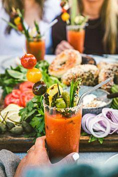 Grilled Bloody Mary | HonestlyYUM (honestlyyum.com) #cocktails #grilling #recipes #bloodymary #vodka