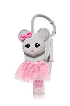 Ballerina Mouse - PocketBac Holder - Bath & Body Works - A pink tulle skirt keeps this little mouse flirty & feminine! Adjustable strap attaches to your backpack, purse and more so you can always keep your favorite sanitizer close at hand.