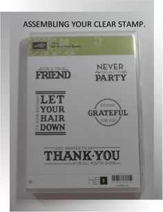 How to make clear stamp adhere to clear block at No Cost, Me, My Stamps and I, Stampin' Up